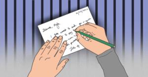 writing an inmate